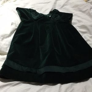 Janie and Jack 3t green velvet dress worn once